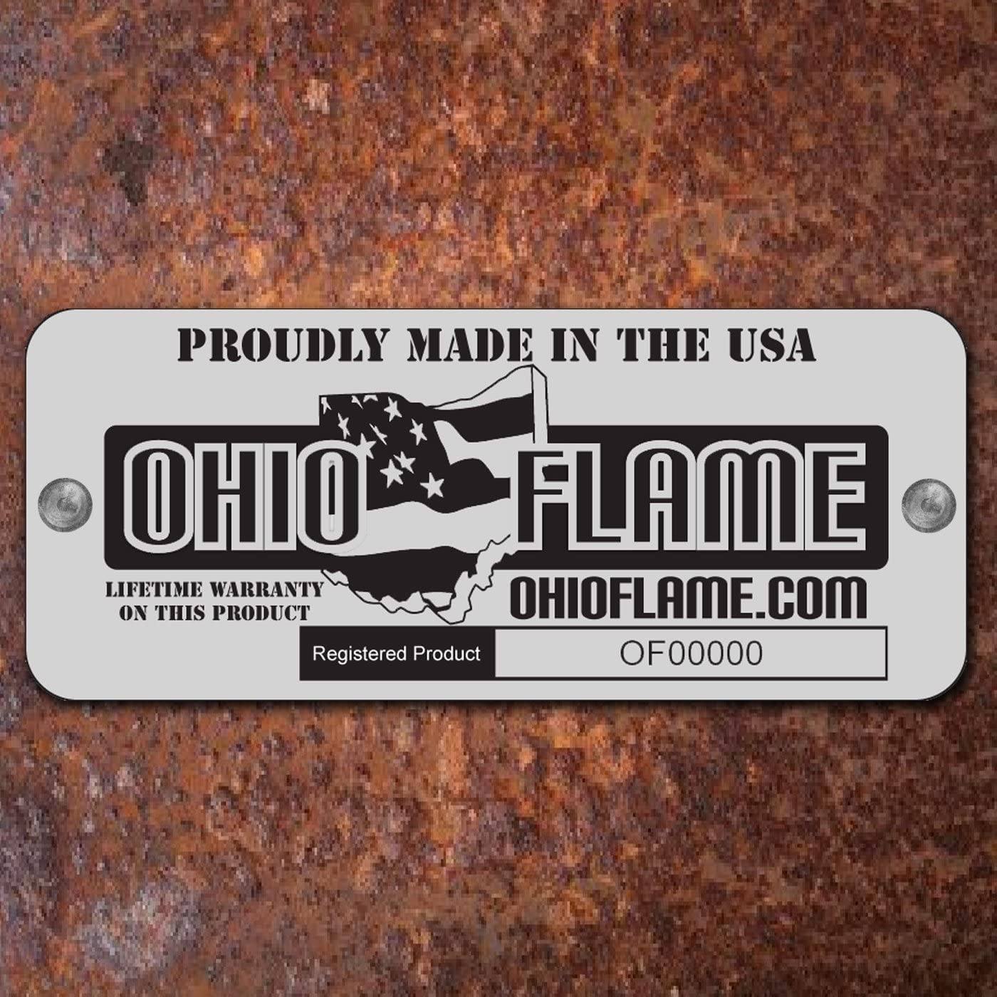 Ohio Flame 36 Patriot Fire Pit Made in USA – Natural Steel Finish