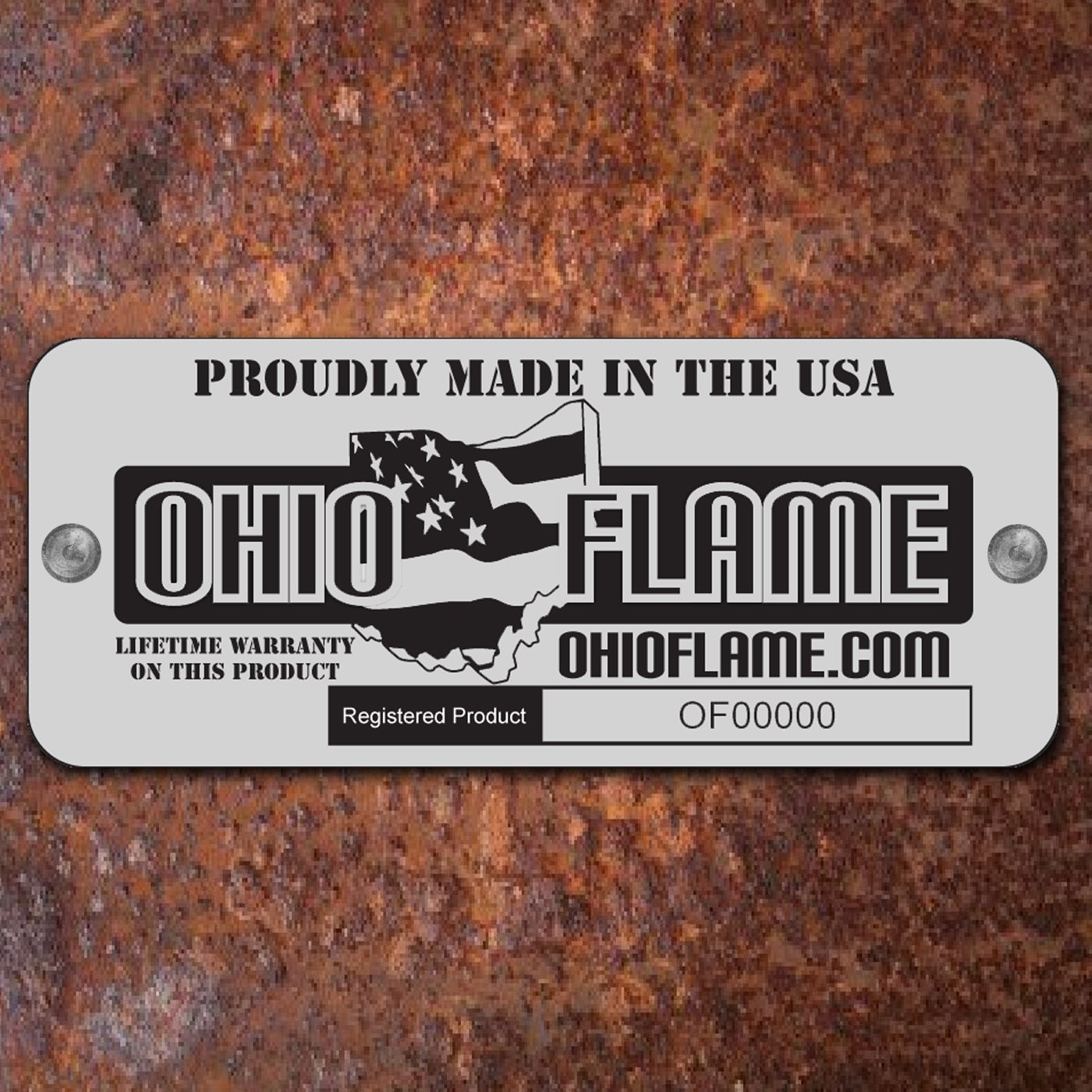 Ohio Flame 30 Patriot Fire Pit Made in USA – Natural Steel Finish