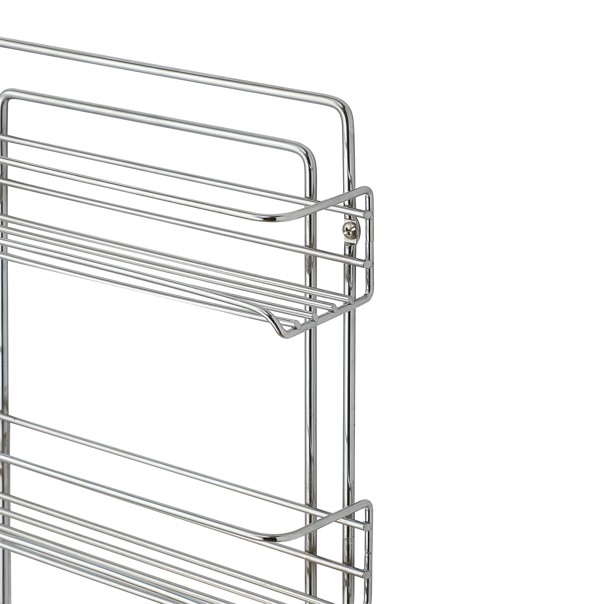 Organize It All 3-Tier Wall-Mounted Spice Rack (Chrome) by Organize It All (Image #4)
