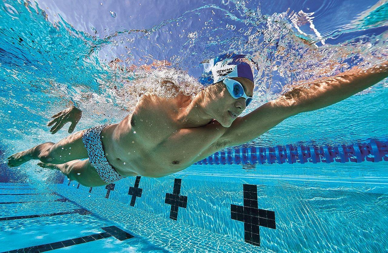 Multicolor Arena Upside Down Low Waist MaxLife Reversible Swim Short Swimsuit White 34