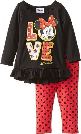 Minnie Mouse Red Shirt//Polka Dot Leggings 2 PC Set