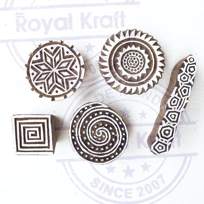 Royal Kraft Diseñador Espiral y Redondo Patrón Madera Imprenta ...
