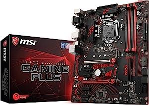 MSI Performance GAMING Intel 8th Gen LGA 1151 M.2 D-Sub DVI DP USB 3.0 Gigabit LAN CFX ATX Motherboard (Z370 GAMING PLUS)