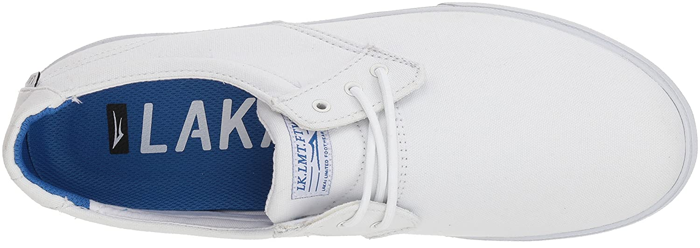 Lakai Limited Footwear Mens Daly B073SPDPHQ 12 M US|White Canvas