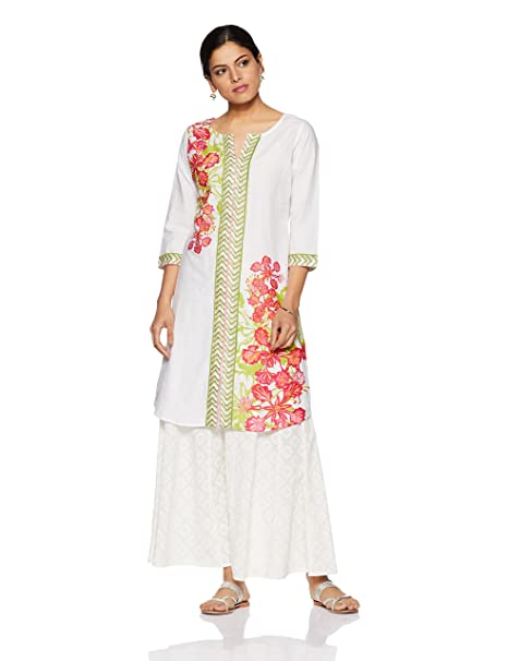 Mother Earth Women's A-Line Kurta Kurtas at amazon