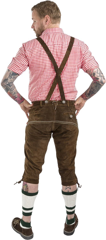 Sch/öneberger Trachten Couture Men Oktoberfest Lederhosen Wiesnstolz F/ête D Octobre Pantalon en Cuir pour Homme