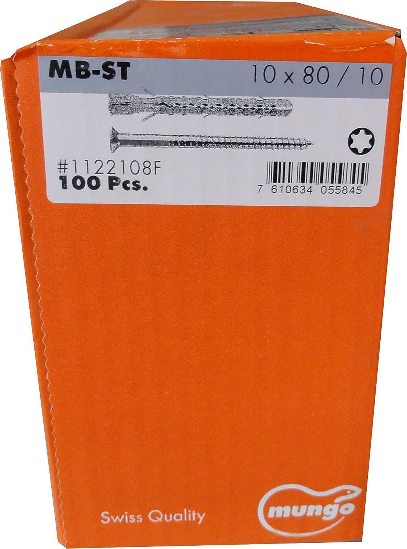 MUNGO MB-ST 8x 80 ST Universal-Fassadend/übel mit Senkschraube verzinkt 100 St/ück,1122100