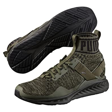 Puma Ignite Evoknit Burnt Olive-Forest Night-  Buy Online at Low ... 32c93f489