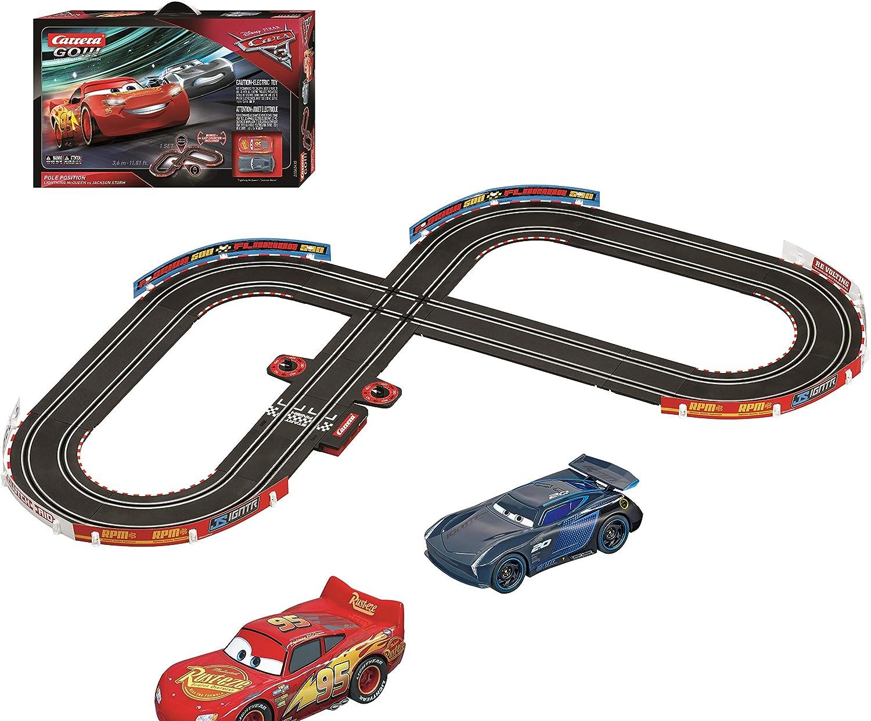 Carrera Go Disney Pixar Cars 3 Pole Position Slot Car Race Track Set Lightning Mcqueen Jackson Storm Toys Games