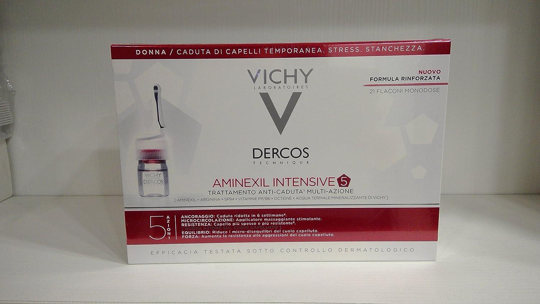 Vichy Dercos Aminexil Intensive 5Tratamiento Anticaída para Mujer 21ampollas