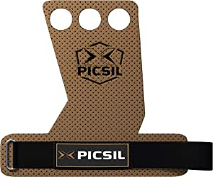 X PICSIL Azor Grips 3 Holes, Hand Grips, Gymnastics Grips, Pull ups Grips, Muscleups, Weight Lifting, Chin Ups, Training, Exercise, Kettlebell, More