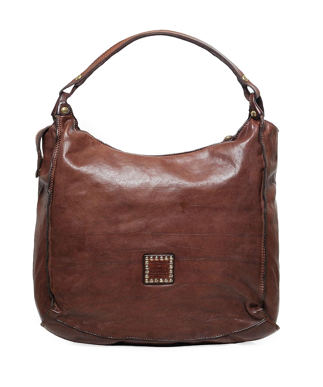 22f51dea4688a Campomaggi Women s Leather Studded Shopper Bag Brown One Size  Handbags   Amazon.com