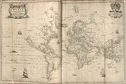 Amazon.com : 16x24 Poster; Map Of The World 1700 : Everything Else
