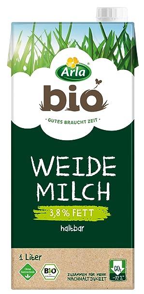arla bio haltbare weidemilch 3 8 fett 1 x 1 l bio h milch aus artgerechter tierhaltung amazon de amazon pantry