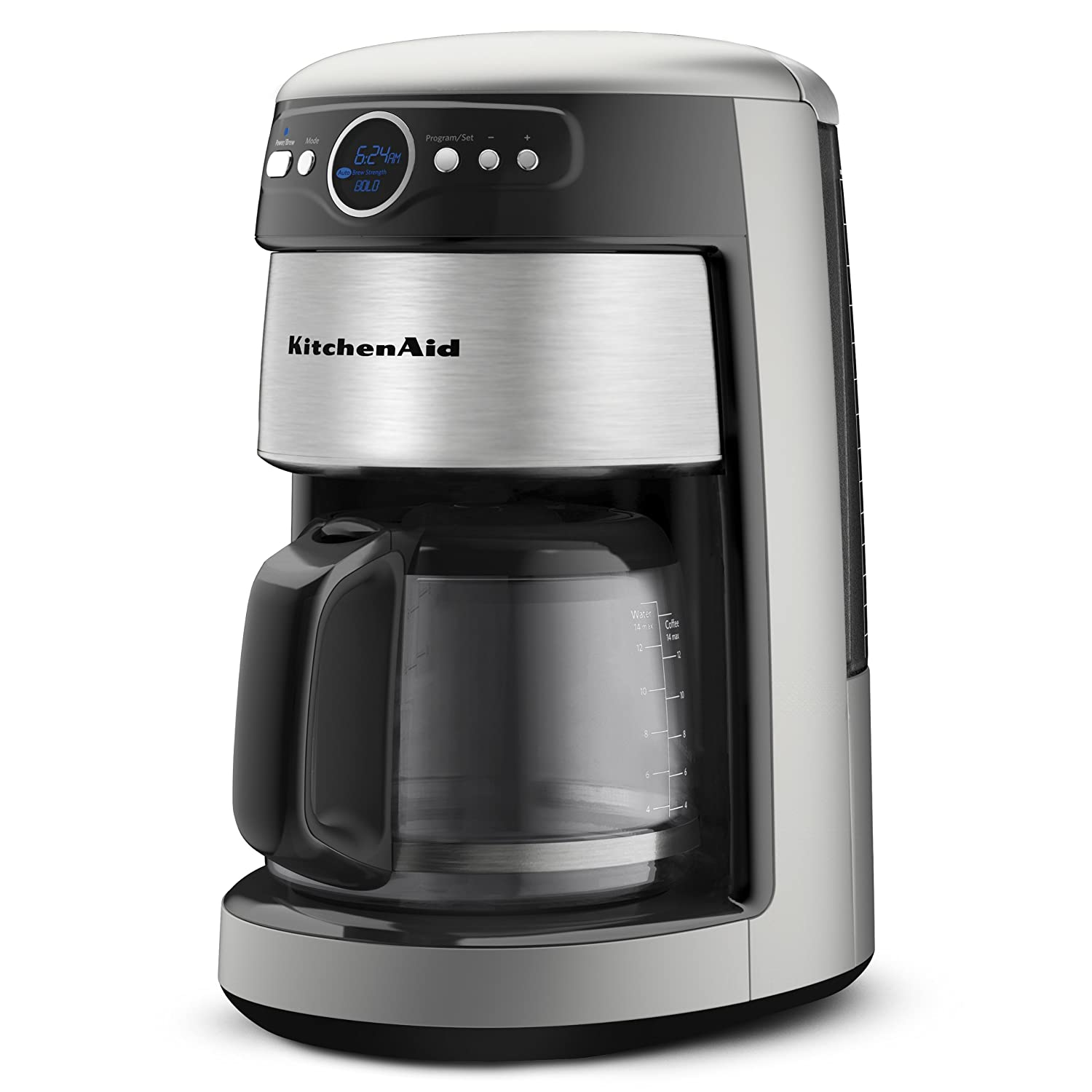 amazoncom kitchenaid kcm1402acs coffee maker 14 cup architect drip coffeemakers kitchen dining - Kitchen Aid Coffee Maker