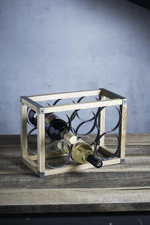 Kitchen Craft INDWR Porte Bouteilles de Industrial Kitchen 28 x 28 x 18 cm Beige et Gris M/étal