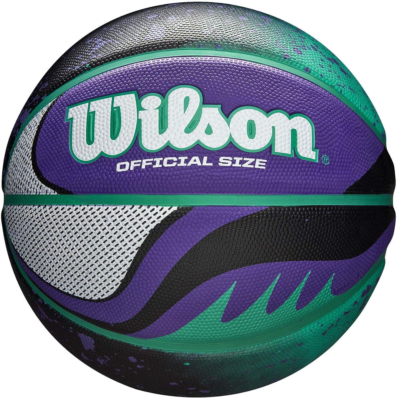 Wilson WTB2101XB07 Pelota de Baloncesto 21 Series Caucho Interior y Exterior, Unisex-Adult, Turquesa/Violeta, 7: Amazon.es: Deportes y aire libre