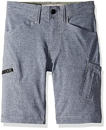 a268d32bdc LEE Boys' Little Dungarees Grafton Cargo Short, Dark Denim Heather, 4  Regular