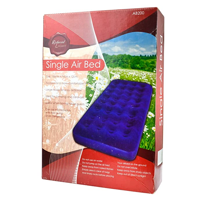 Inflatable Single Air Bed For Camping / Festivals Mattress