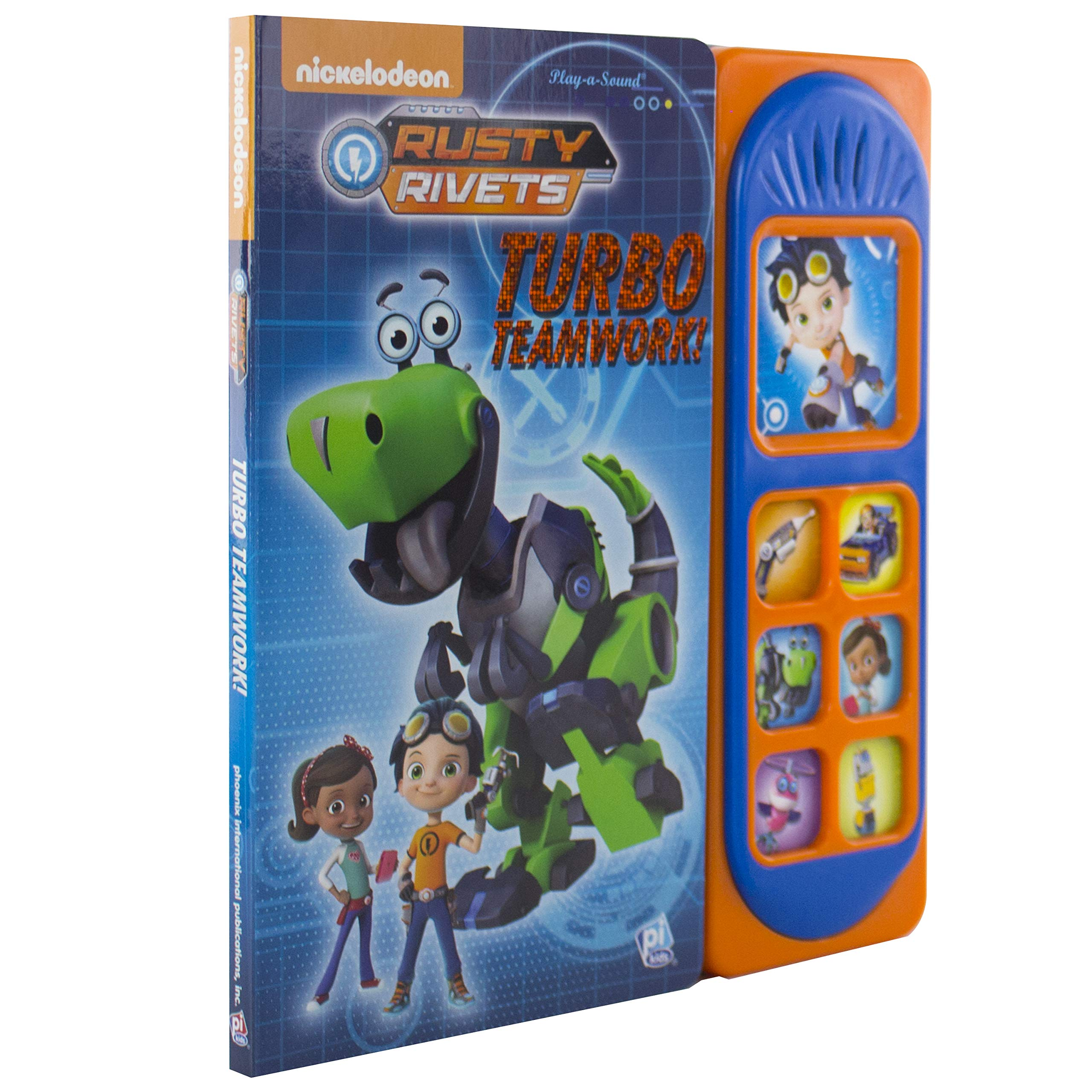 Nickelodeon - Rusty Rivets - Turbo Teamwork - PI Kids Board book – Sound Book, August 14, 2018