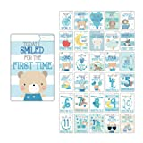 Baby Milestone Cards UK Boy Baby Shower Gifts Boy, New Baby Boy Gifts