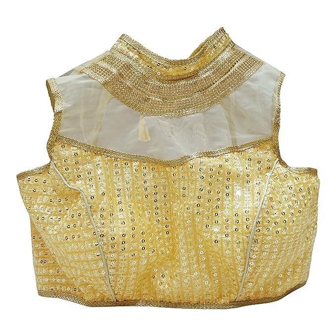 PEEGLI Blusa De Diseñador De Ropa De Boda Blusa De Sari Acolchada Lista para El Cultivo