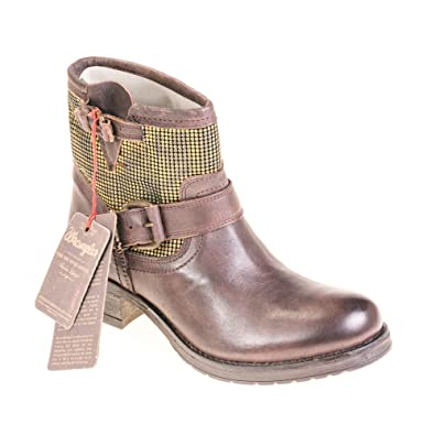 57cfc8f4b Wrangler Women's Biker Boots: Amazon.co.uk: Shoes & Bags