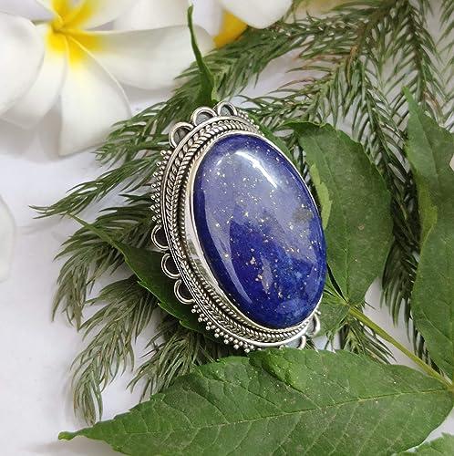 Boho Birthday Gift Everyday jewelry Blue Gemstone Ring Artisan Ring Rustic Ring Lapis Lazuli Sterling Silver Ring Christmas gift