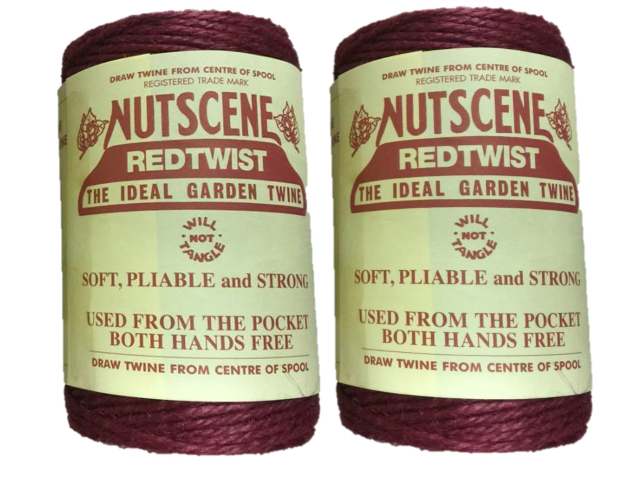 Bosmere K807R Nutscene 3-Ply Twine, 394-Feet, Red, 2-Pack