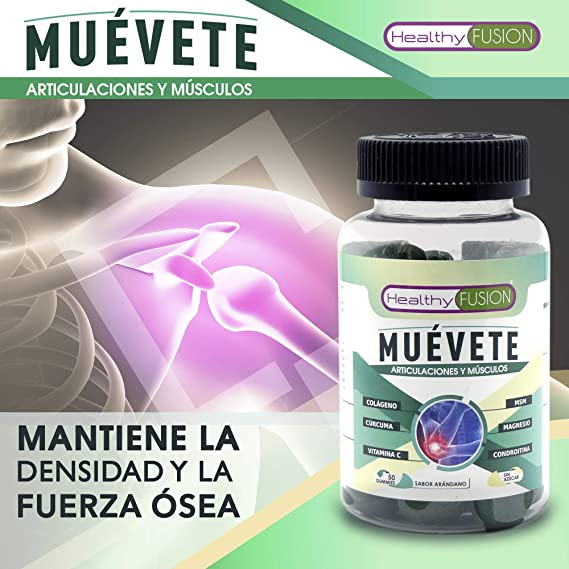MUÉVETE - Potente Antiinflamatorio con Cúrcuma Microencapsulada + Colágeno + Magnesio + Condroitina + MSM + Vitamina C - Articulaciones y Músculos Sanos, ...