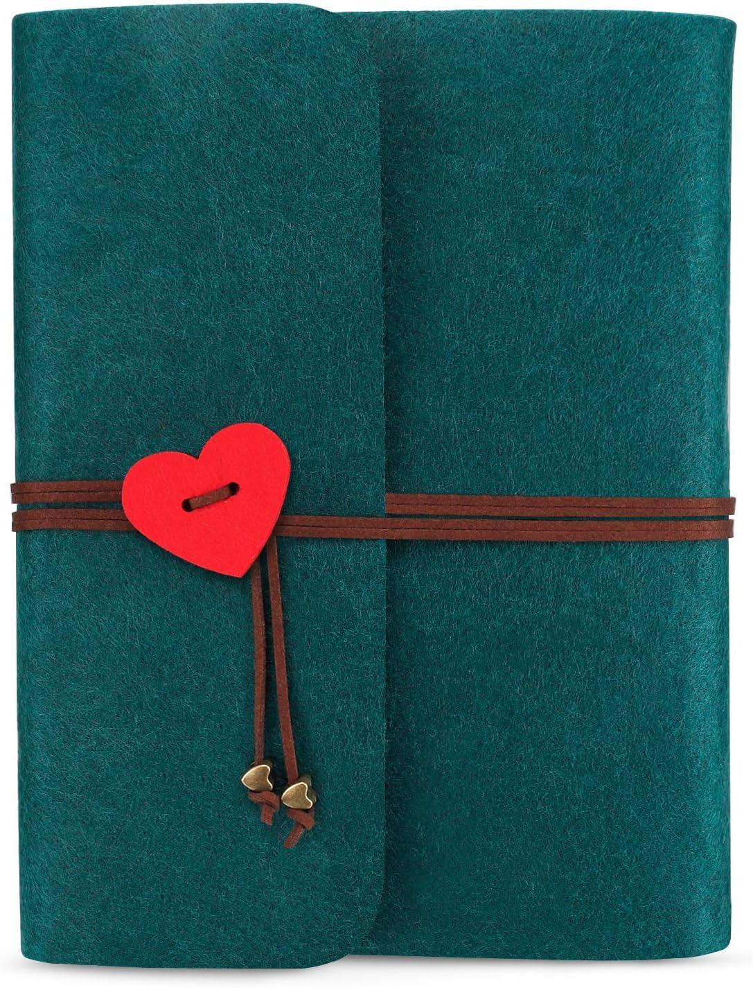 Braun Jahrestag Geburtstag Geschenk F/ür Freundin Liebe Fotobuch Filz Hochzeit Fotoalben Ringbuch ONEDERZ Fotoalbum Zum Selbstgestalten Schwarze Seiten Scrapbook Album Zum Einkleben