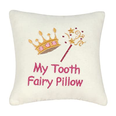 """C&F Home 6"""" x 6"""" Saying Pillow w/Pocket, My Tooth Fairy: Home & Kitchen"""