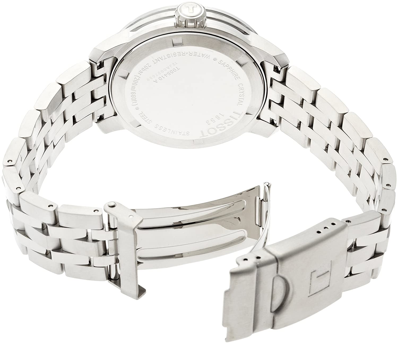 Tissot Mens Tist0554101105700 Prc 200 Analog Display T0554301105700 Black Swiss Quartz Silver Watch Watches