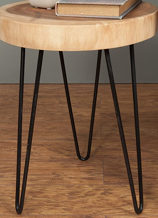 Amazon.com: East At Main   Accent Table   Laredo Brown Teakwood Round End  Table (13x13x19): Kitchen U0026 Dining