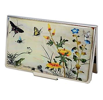 Accessoire bureau original portecarte en nacre naturel design