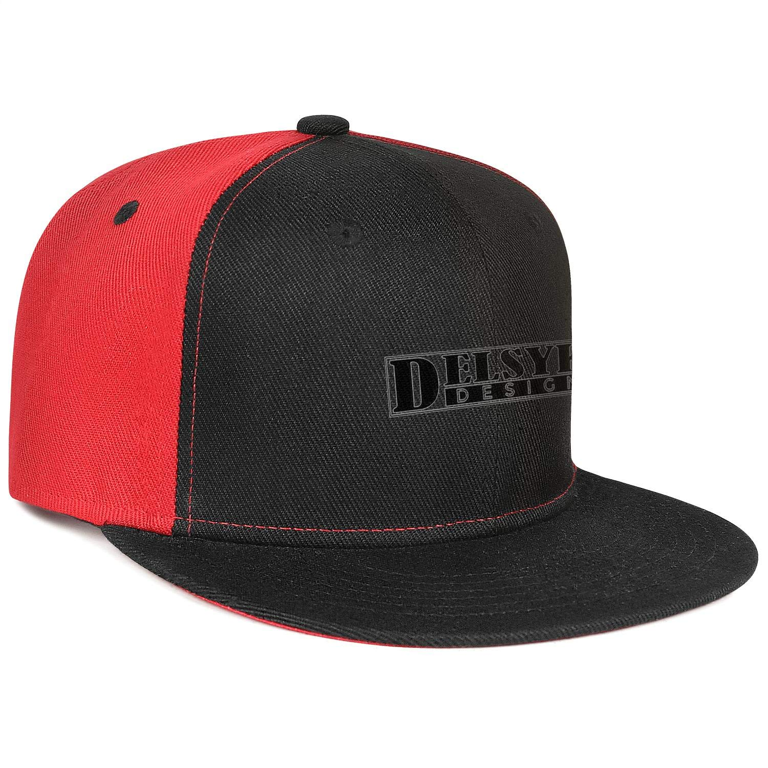 YYWCJ Trucker Hats Delsyk-Design-Logo Snapback Flat Bill Adjustable Hip Hop Cap