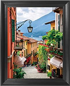 Amalfi Coast Italy 3D Poster Wall Art Decor Framed Print | 14.5x18.5 | Italian Lenticular Posters & Pictures | Famous World Travel & Cultural Artwork | Gifts for Guys & Girls Bedroom & Bathroom Walls
