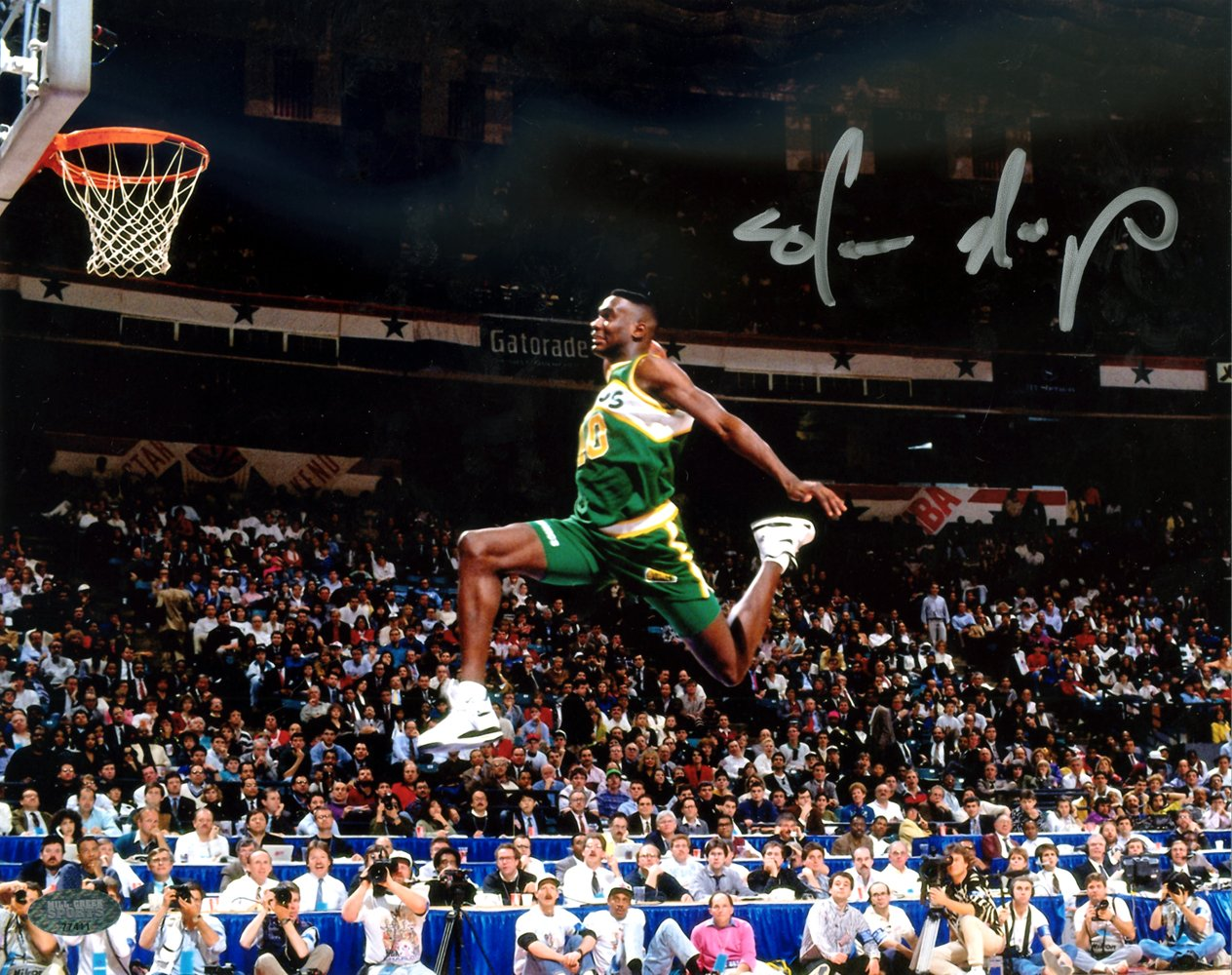 Shawn Kemp Autographed 8x10 Photo Seattle Sonics Mcs Holo