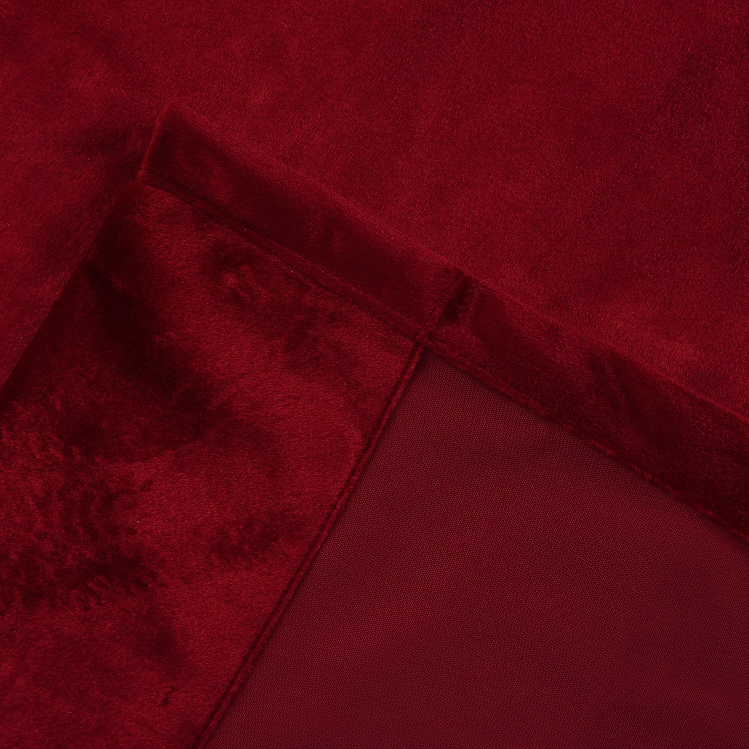 Cherry Home Set of 2 Classic Blackout Velvet Curtains Panels Home Theater Grommet Drapes Eyelet 52Wx63L-inch Red(2 panels)Theater  Bedroom  Living Room  Hotel by Cherry Home (Image #10)