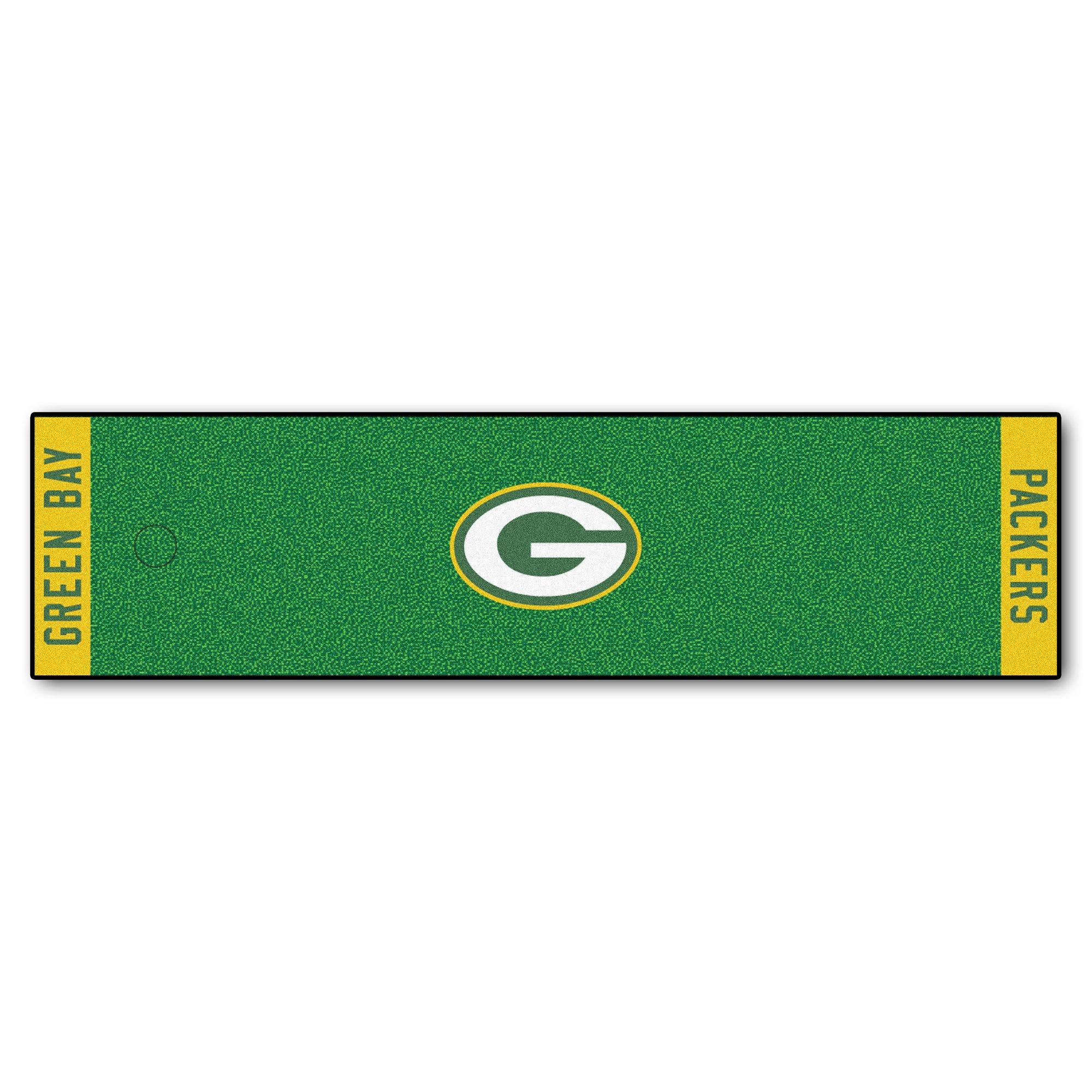 Fanmats NFL Green Bay Packers Nylon Face Putting Green Mat
