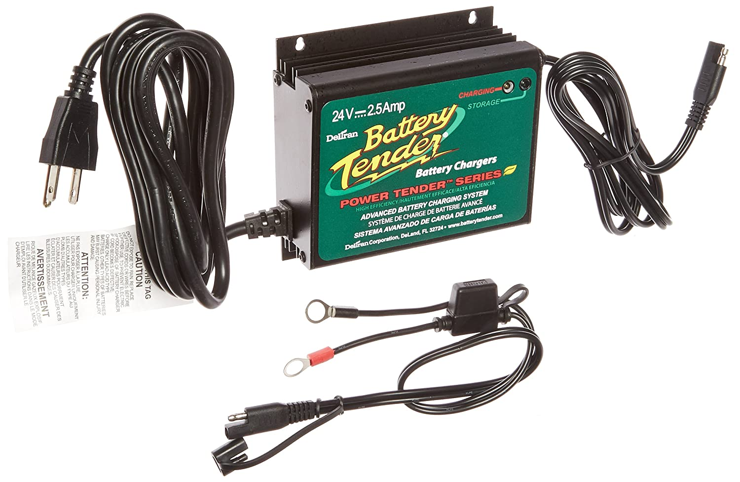 Battery Tender 022 0158 1 Waterproof 24 Volt Power 48 Club Car Solenoid Wiring Diagram Plus Charger Automotive