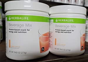 Herbalife Beverage Mix Canister Peach Mango