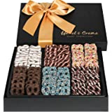 Hazel & Creme Chocolate Pretzel Gift Basket- Gift Box - Gourmet Holiday Food Gift (Extra Large Box)