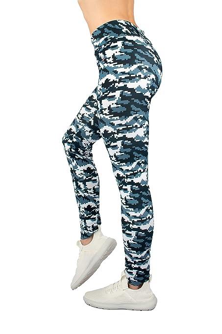 Lindissims Legging Eco-Sostenible Aqua Digital Cammo Mallas Deporte, Pantalones Deportivos, Cintura Alta, Yoga, Running, Fitness…