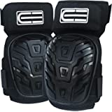 Crafted Everest Professional Work Knee Pads - Durable Foam Padding and Comfortable Gel Cushion - Adjustable Straps with Thigh Support Designed to Prevent Slipping – Heavy Duty Protection
