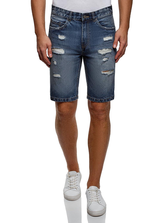 oodji Ultra Uomo Shorts in Jeans Strappati RIFICZECH s.r.o. 6L220017M