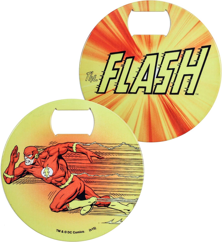 Flash Bottle Opener Coaster Yellow