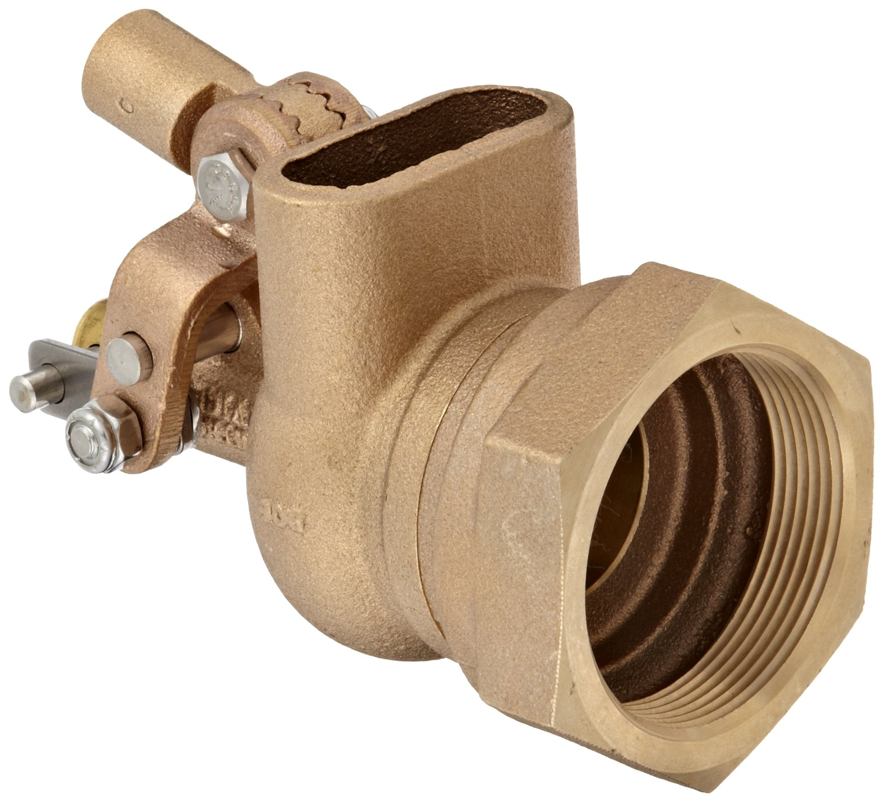 Robert Manufacturing R605T High Turbo Series Bob Red Brass Float Valve, 2'' NPT Female Inlet x FreeFlow Outlet, 180 gpm at 85 psi Pressure