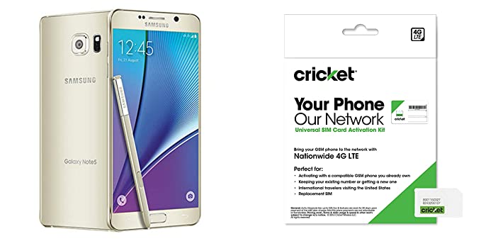 Cricket Samsung Galaxy Note 5 QuotGold Platinum 32Gbquot