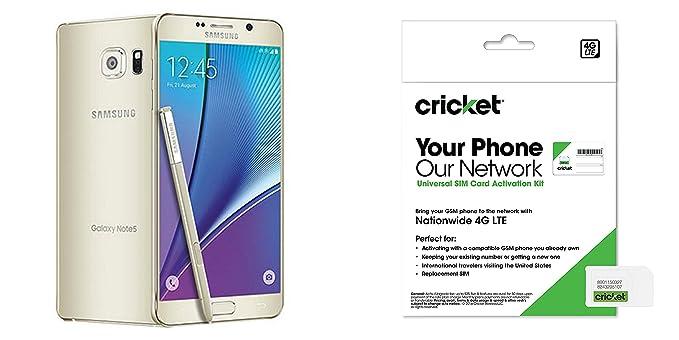Amazon Cricket Samsung Galaxy Note 5 Gold Platinum 32Gb ATT